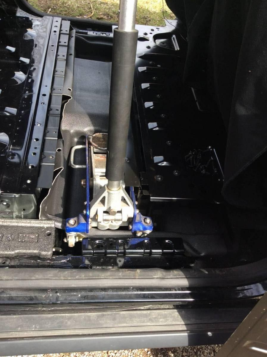 1 5 ton floor jack on top of vinyl subfloor ford transit for 1 5 ton floor jack