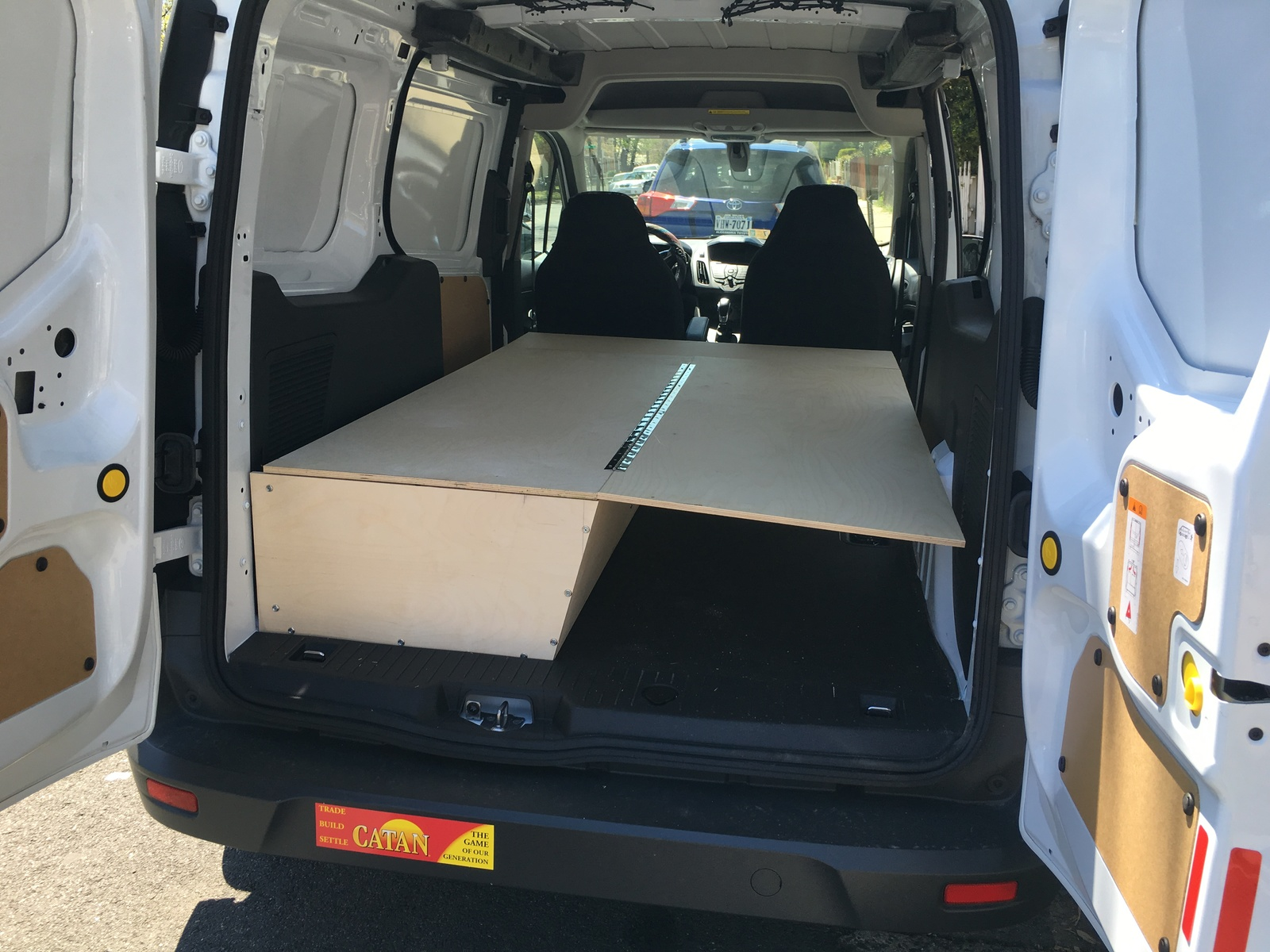 Testing How The Bed Panels Will Work Ford Transit Forum