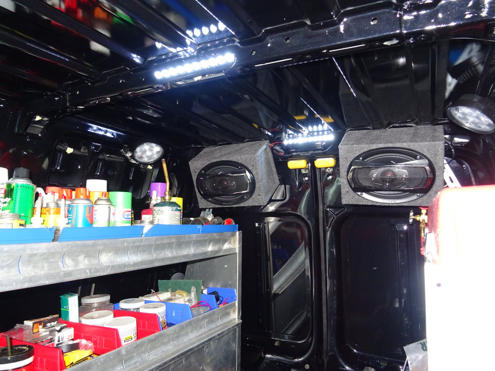 Rear speakers and Aux. lighting