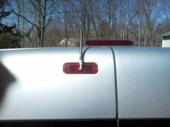 Ham Radio antenna mount on rear door