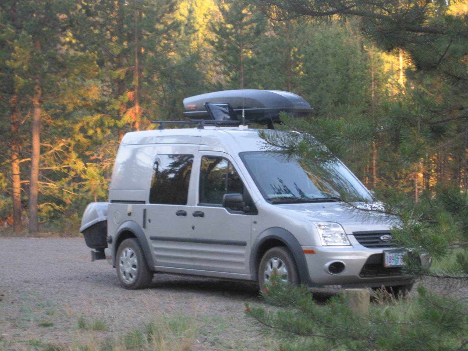 Camping near Klamath Falls, Oregon