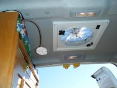 Light and vent installed