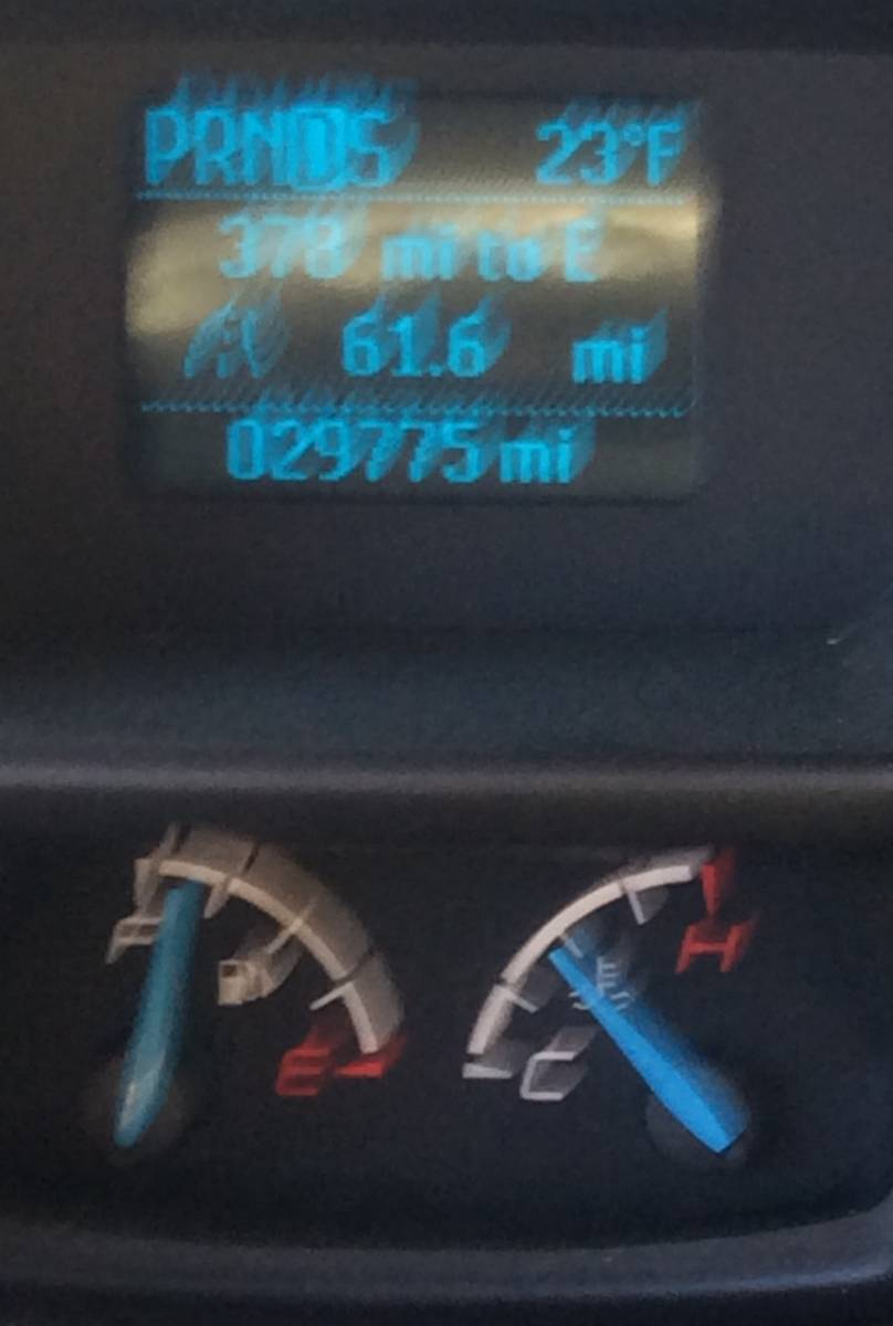 Thermometer going insane?! Air temp was 90*... Watch trip odometer progression vs temperature.