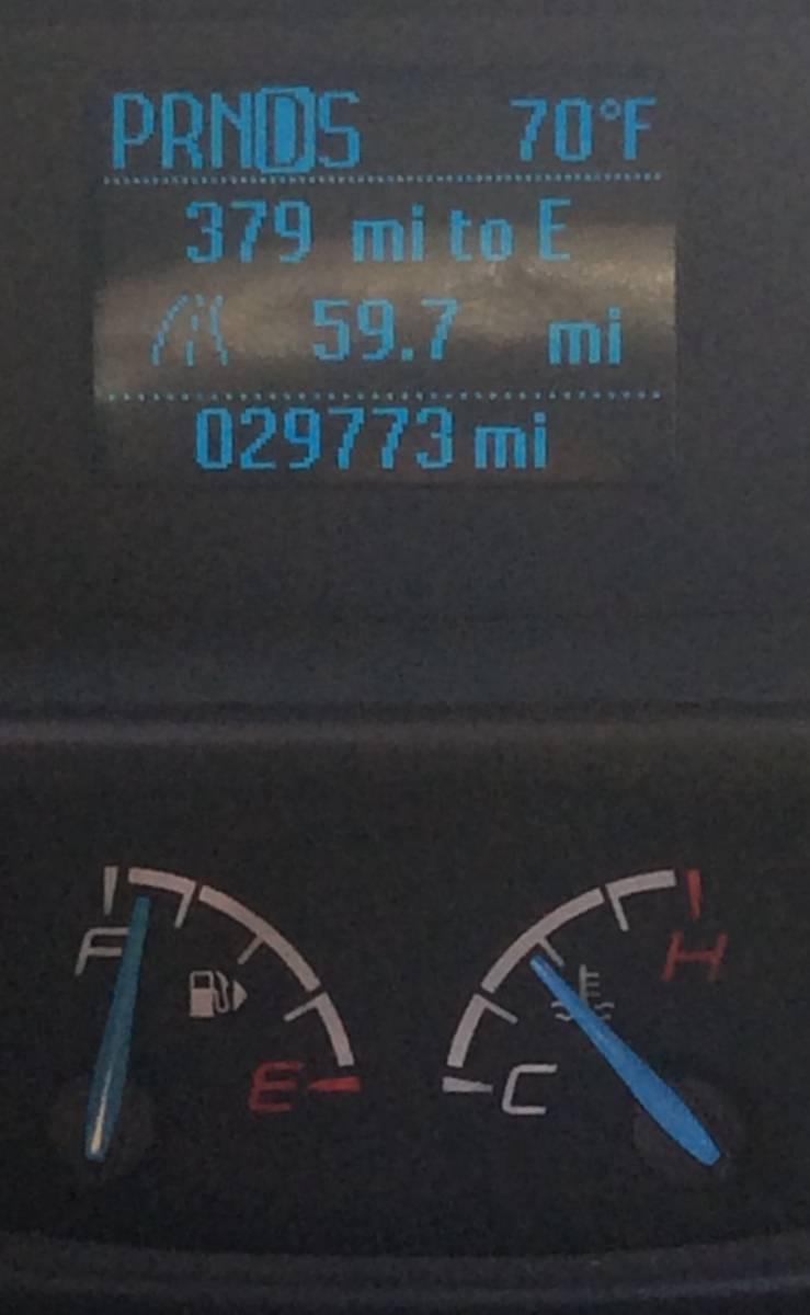 Thermometer going insane?! Air temp was 90*... Watch trip odometer progression vs temperature.