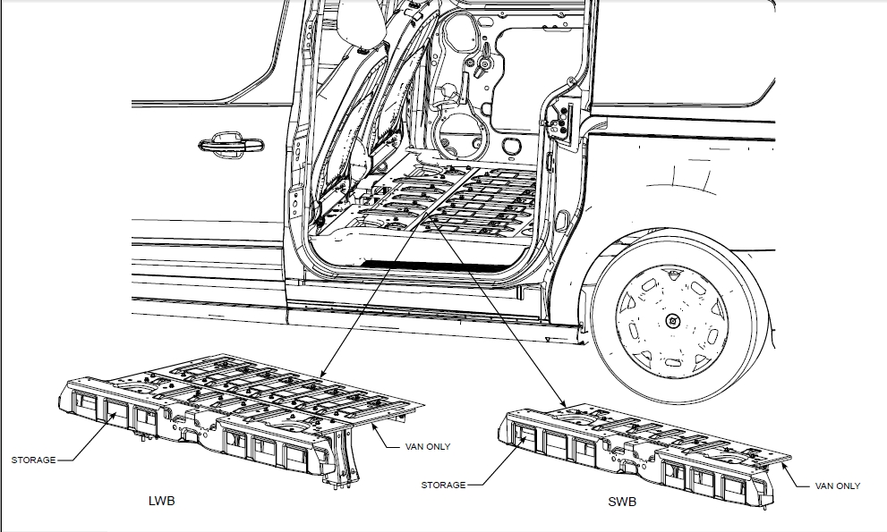cargo mat for van models - interior