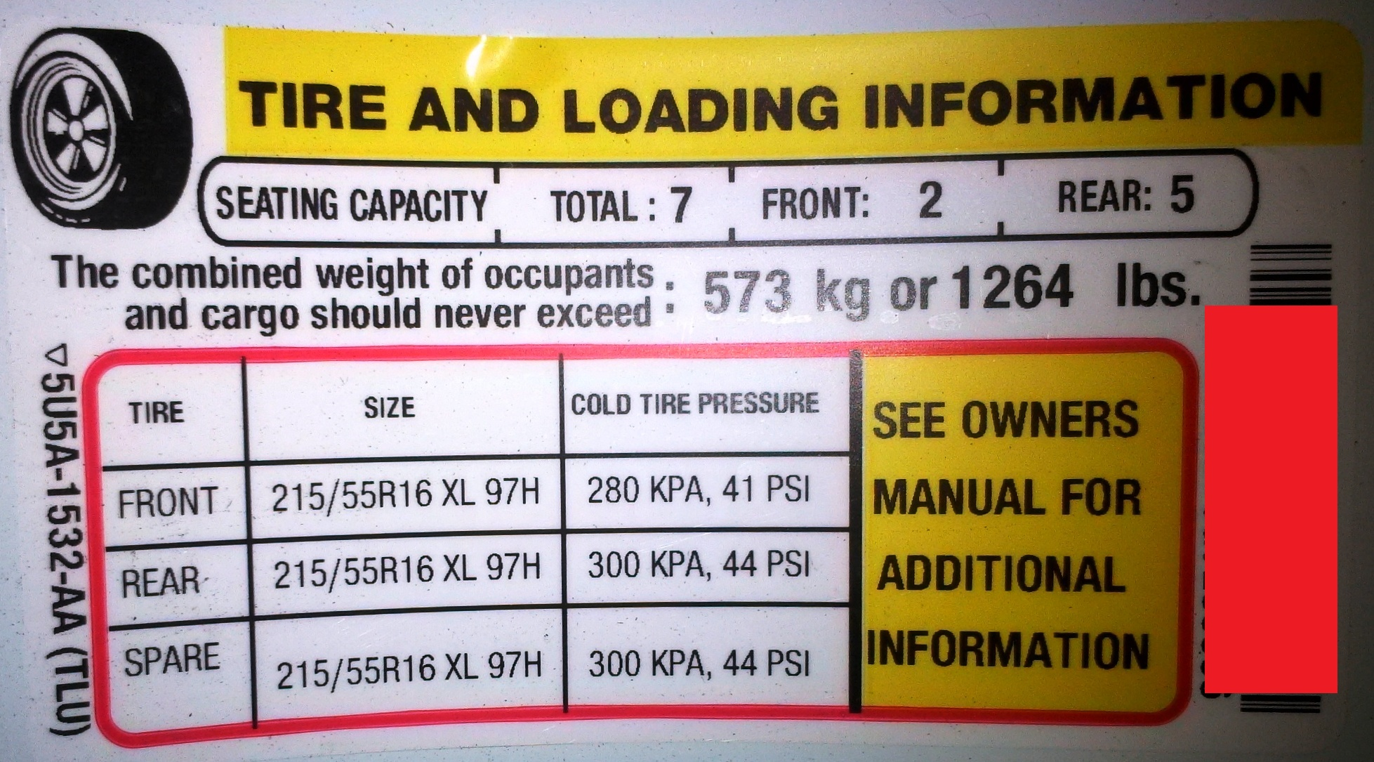 Chevy Avalanche 2016 >> GEN2 - TIRE PRESSURE & TPMS - Wheels & Tires - Ford Transit Connect Forum