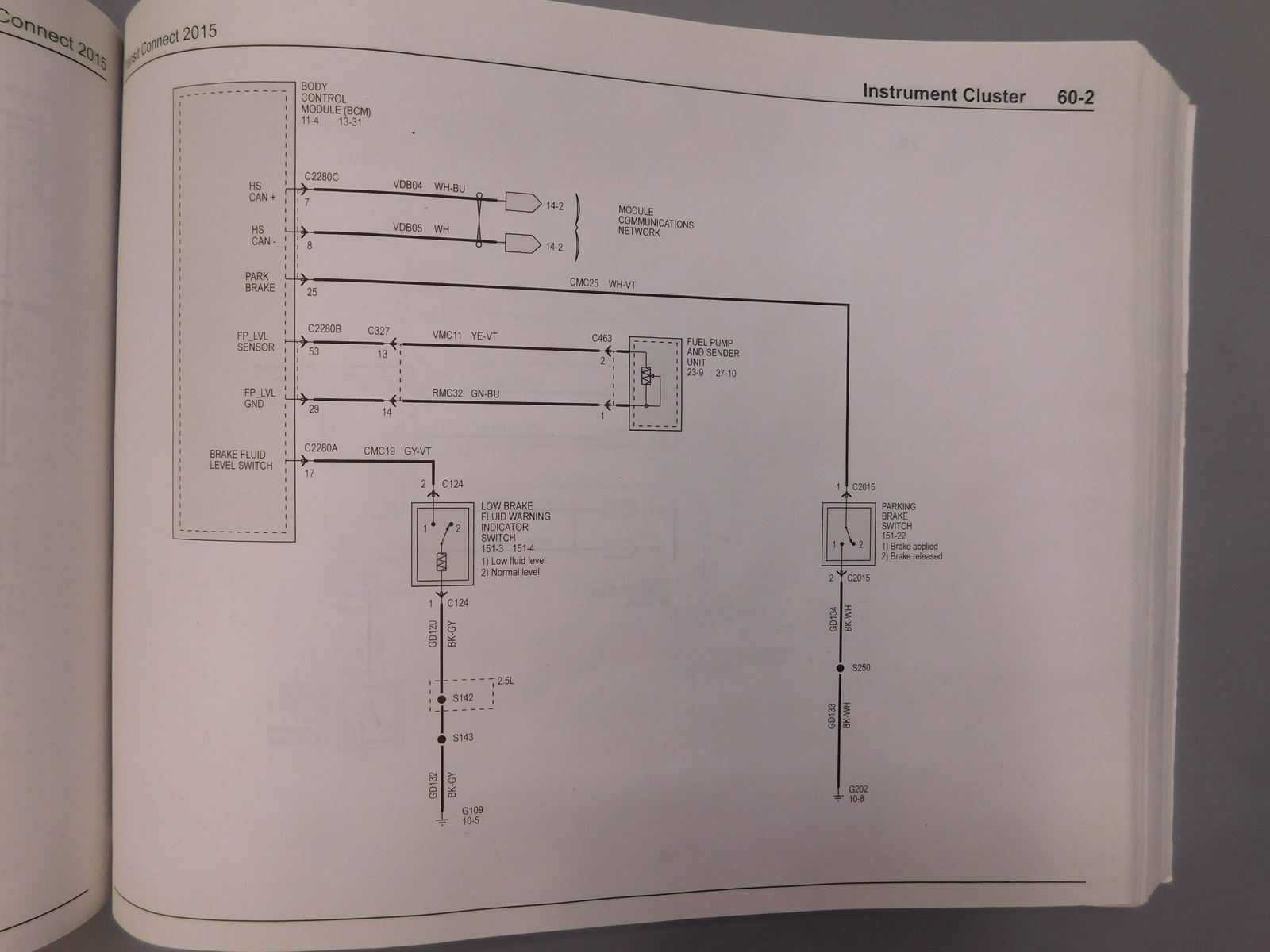 2015 Parking Brake Wiring Diagram