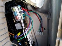 Rear fuse/terminal strip mockup